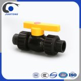HDPE Plastic Double Union Ball Valve with Steel Core Pipe Fittings