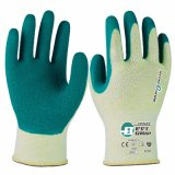 Must-Have Items for Handling Metal and Glass! 13G Hi-Vis Yellow Hppe High Abrasion Latex Safety Gloves