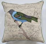 "17.7"" X 17.7"" Linen and Cotton Embroidery Bird Pillow and Cushion Home Fashion"