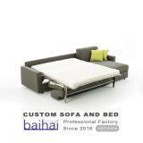 Wholesale Fabric Hotel Living Room Functional Furniture Folding Bed Cum Corner Sofa