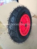 Wheelbarrow Pneumatic Tire 3.50-8 with Plastic Rim