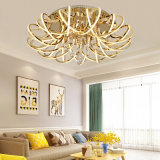 26 Lights 250W K9 Crystal Acrylic Morden Hotel Gold Hanging Deocorative Chandelier for Living Room