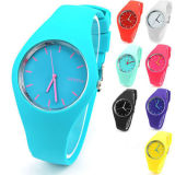 Wholesale Cheap New Fashion Waterproof Sport Custom Logo Geneva Silicone/Rubber Quartz Wrist Watch for Promotional Gift