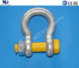 Galv. G2130 U. S Type Drop Forged Bow Shackle Rigging Hardware