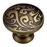Solid Brass Wardrobe Pull Handle and Knob with Patterns