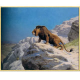 Wholesale High Quality Decoration Oil Painting, Home Decoration Painting, Art Painting (lion on the watch)