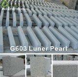 Factory Natural Grey Flamed G603 Lunar Pearl Granite Kerbstone
