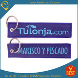 Supply Custom Design Embroidery Woven Keychain