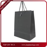 Black Matte Laminated Euro Tote Paper Gift Bag, Paper Shopping Bag Printing Logo, Color Folding Customized Paper Bag.