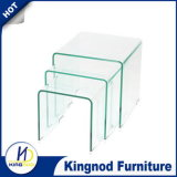 Living Room Furniture Curve Glass Coffee Table Furniture Glass Furniture