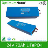 24V 70ah Rechargeable LiFePO4 Battery Solar Storage