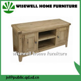 Solid Oak Two Door Wood TV Stand