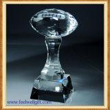Diamond Custom Crystal Glass Trophy