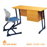 School Teacher Table with Chair of Educational Furniture