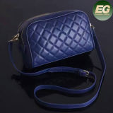 European Hot Style Real Leather Handbags Grid Ladies Shoulder Bags for Women Emg4945