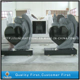 Absolute Shanxi Black Granite Memorial Tombstones for Sale