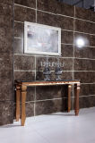 Fashionable Marble Rose Golden Frame Console Table