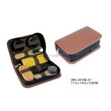 Classic Brown Leather 7PCS Shoe Care Tools Shoe Care Kit Shoe Shine Set