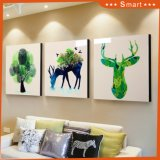 Gift Wall Decoration Picture with Frame Warm Natural Animal Scenery Painting