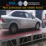 Aluminum Stage Truss with Plywood Topping Tested by Car