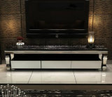 Simple Style Modern Stainless Steel TV Stand with Showcase