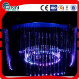Music Dancing Round and Separated Sections Electric Fountain