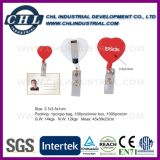 Promotional Ce Certificated Heart Shape Acrylic Badge Holder Clip