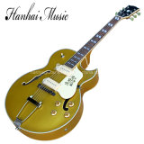 Hanhai Music / Es295 Jazz Semi-Hollow Electric Guitar with Gold Body