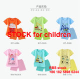 2.9 Dollor with 6 Color Children's Cotton Short-Sleeved Suit Stock