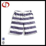 Custom Made Latest Striped Men′s Swim Shorts with Pocket