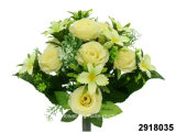 Artificial/Plastic/Silk Flower Rose/Orchid Mixed Bush (2918035)