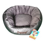 Round Gray Noble Wholesale Pet Cat Kennel Bed