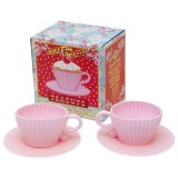 Hot Sell Food Grade Silicone Afternoon Tea Cupcake Mold with Plate