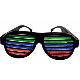 Sound Control USB LED Flashing Glasses Party Bar Fashion Eyewear Sunglasses