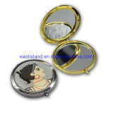 Round Metal Makeup Compact Mirror Pocket for promotion Gift