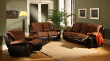 2018 Wholease Living Room Classic and Traditional Fabric Recliner Sofa Set