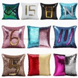 DIY Glitter Mermaid Pillow Case Reversible Sequins Pillow Case Cushion Cover for Sofa Home Decoration Reversible Sequin Mermaid Glitter Sofa Cushion Cover Pillo