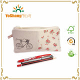 Canvas Trendy Pencil Bag, Cheap Pencil Cases, Zipper Pencil Case