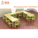 Log Wood Series Solid Wood Material Child Care Center Furniture