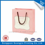 High Quality Pink Strip Paper Gift Packaging Bag