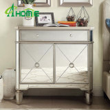 Modern Elegant Mirrored Multi Drawers Bedside Chest