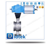 Didtek V Port CF8 Pneumatic Ball Valve 4 Inch with Wafer Type