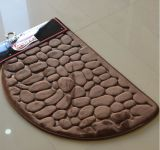 Flannel Stone Shape Bathmat
