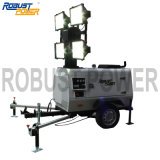 8m High Output Telescoping Mobile Diesel Portable Generator Light Tower