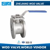 Staionless Steel Wafer Flanged Ball Valve with Locking