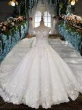 Crystal and Rhinestones Top Royal Wedding Gown