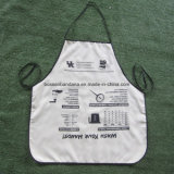 OEM Produce Custom Logo Printed Polyester White Cheap Cooking Kitchen Bib Apron Supplier