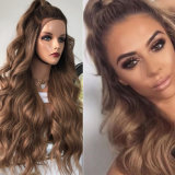 Wholesale Price 360 Lace Frontal Wig Loose Wave 150% Density 13X4 Lace Front Human Hair Wigs Ombre Brown Blonde