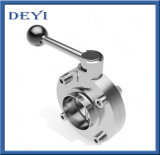 Stainless Steel Sanitary Long Weld Welded Butterfly Valve