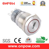 Onpow 19mm Push Button Switch (LAS1-AGQ-11Y/21/S, UL, CE, CCC, RoHS, REECH)